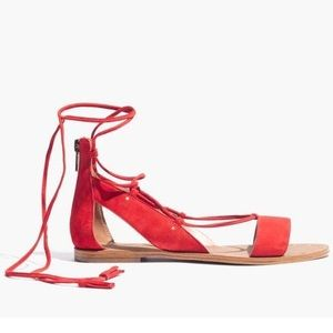 Madewell Bridget lace up suede sandal